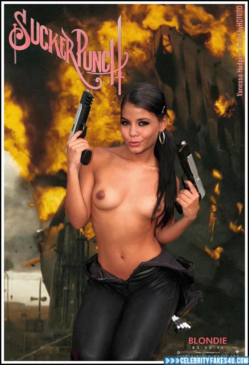 Vanessa Hudgens Fake, Series, Sucker Punch, Tits, Topless, Porn