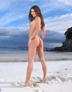 Victoria Justice Beach Sideboob Naked Fake 001