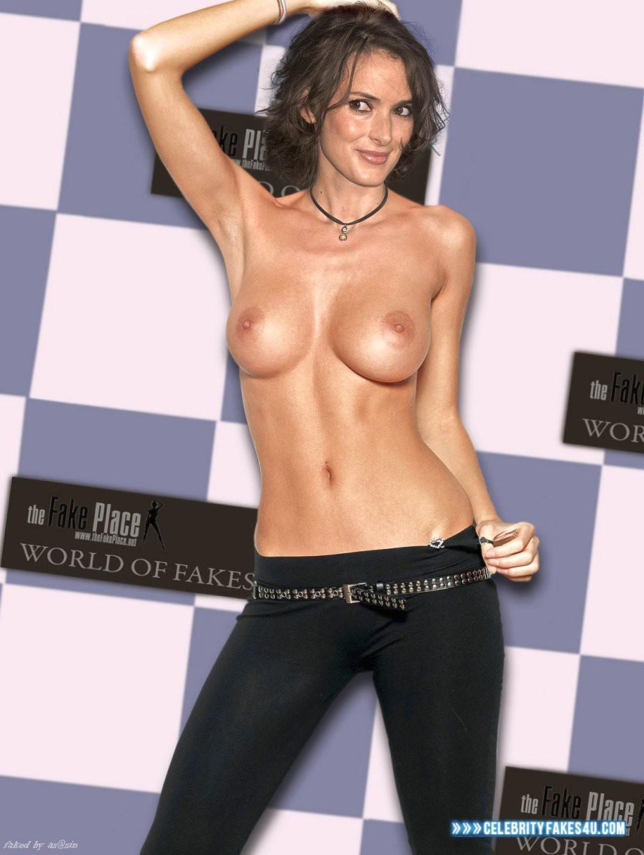Winona Ryder Topless Nudes 001  Celebrity Fakes 4U-5457