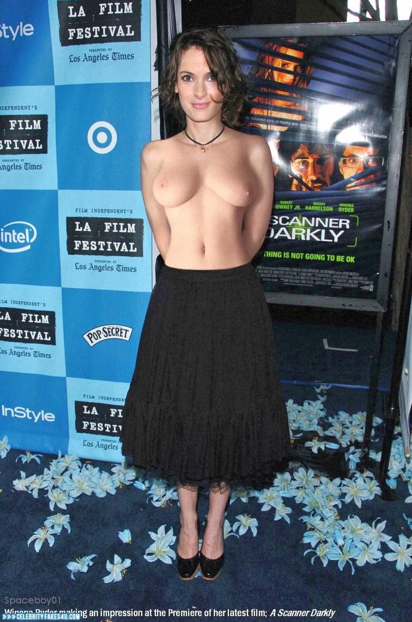 Topless ryder Winona Ryder