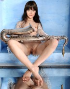 Zooey Deschanel Tits Legs Spread Pussy Nsfw Fake 001