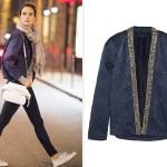 Isabel Marant Jasia Embellished Silk Jacket as seen on Alessandra Ambrosio