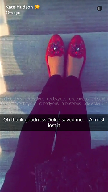 Kate Hudson Snapchat - Dolce & Gabbana Vally Slippers