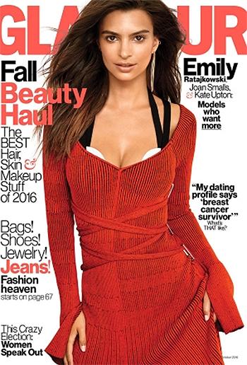 Emily Ratajkowski Glamour Magazine October 2016 - Proenza Schouler Crisscross-Waist Midi Dress