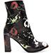 Matisse Black Floral Graffiti Booties