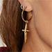 Luv Aj Golden Rule Cross Hoop Earrings