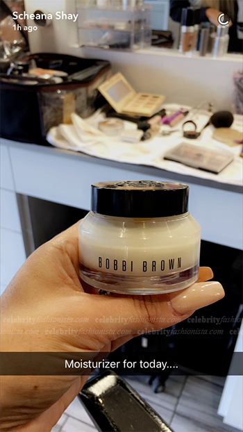 Scheana Shay Snapchat: Bobbi Brown Bobbi To Go Hydrating Face Cream (October 10, 2016)