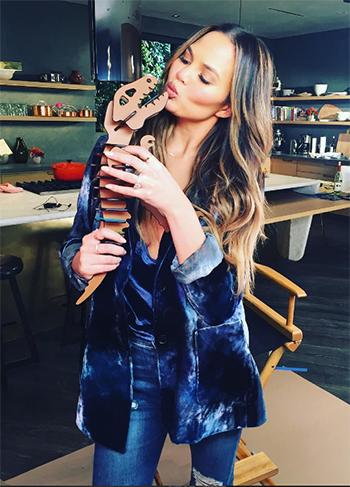 Chrissy Teigen Instagram: 3.1 Phillip Lim Tailored Velvet Blazer