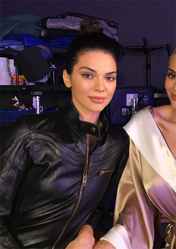 Kendall Jenner — Chloé Leather Jumpsuit