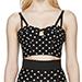 Dolce & Gabbana Black & White Polka Dot Bustier