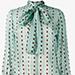 GUCCI Ladybug Print Silk Shirt with Necktie