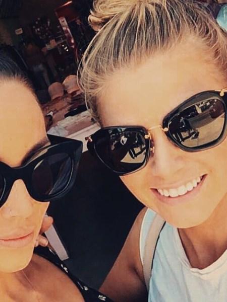 Ariana Madix, Miu Miu Modified Cat's-Eye Sunglasses (Instagram September 7, 2016)
