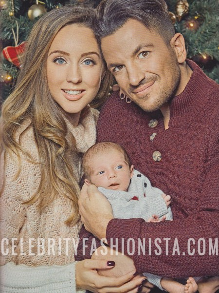 Emily MacDonagh, Miss Selfridge Pink And Cream Cable Chunky Knitted Jumper (Ok Magazine Christmas 2016 Issue)