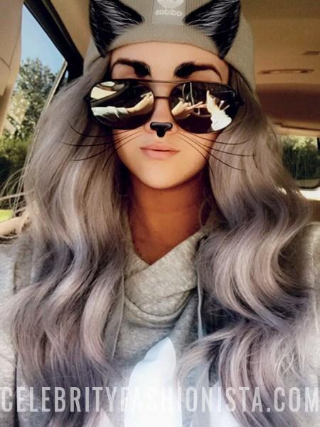 Nicole Guerriero, Adidas Originals Beanie Hat And Grey Trefoil Logo Hoodie (Snapchat, Feb 11 2017)