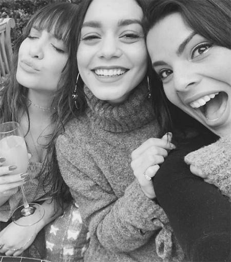 Vanessa Hudgens, Lovers + Friends x Revolve Kate Sweater (Instagram Feb 5, 2017)