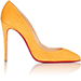 Christian Louboutin Pigalle Follies Suede Pumps in Orange Yellow
