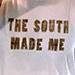 2nostalgik The South Made Me crop tank top