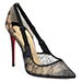 Christian Louboutin Hot Jeanbi Lace Point Toe Pumps