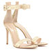 Gianvito Rossi Portofino Gold Leather And Lace Sandals