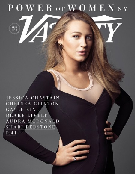 Blake Lively, Givenchy Cady Sweetheart Neck Dress for Variety April 2017 Power of Women NY.