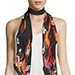 Rockins Flowers and Flames Classic Skinny Scarf