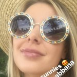 Vanderpump Rules star and actress Ariana Madix showed off her new sunnies in a recent Instagram Story. She's wearing the new Dolce & Gabbana Crystal-embellished Round-frame Gold-tone Sunglasses.