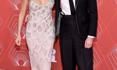 Sienna Miller stuns in plunging beige gown as she supports ex-boyfriend Tom Sturridge at Tony Awards