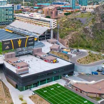 ASUY agility field in synthetic turf by Celebrity Greens