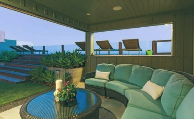 Leonardo DiCaprio Malibu Beach Home celebrity homes guest home outdoor jacuzzi