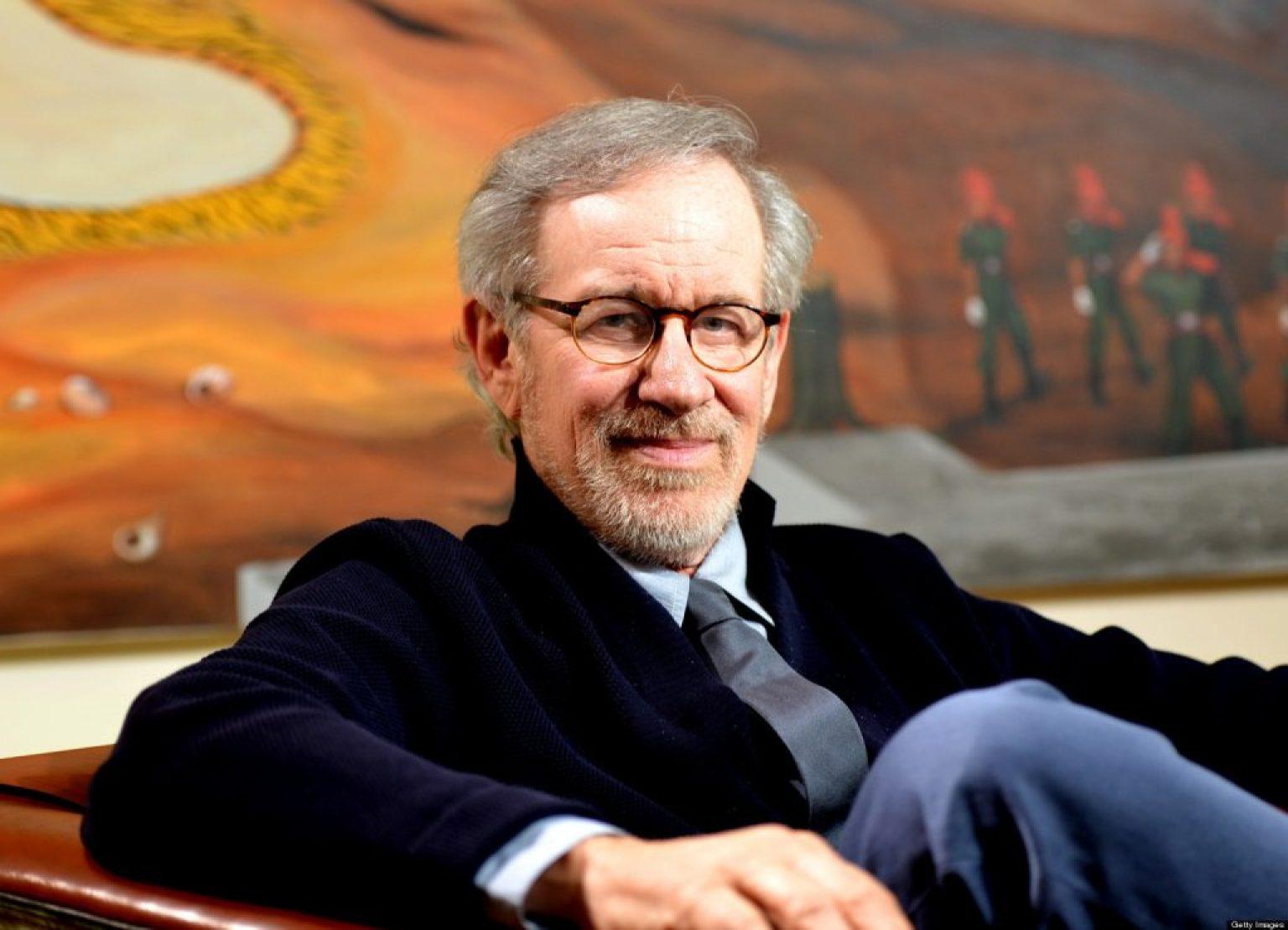 MUMBAI, INDIA - MARCH 11: US film director Steven Spielberg during his interview in Mumbai on March 11, 2013. (Photo by Bhaskar Paul/India Today Group/Getty Images)