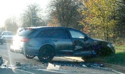 David Beckham Car Crash 2014