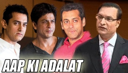 Aap Ki Adalat with SRK, Salman and Aamir Khan