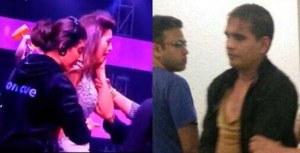 Gauhar Khan slapped at India's Raw Star, Man Name Pictures