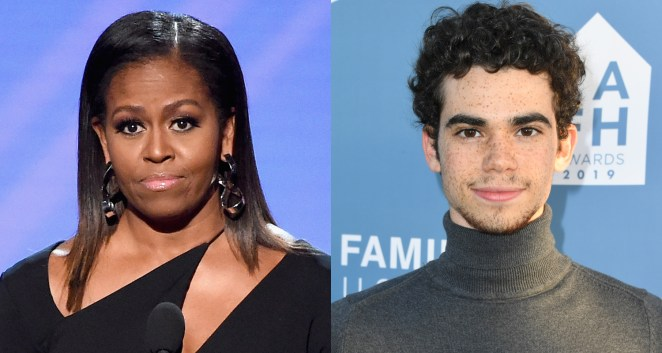Image result for Cameron Boyce and michelle obama
