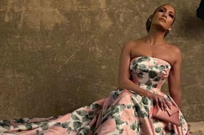 Jennifer Lopez Kicks Off Awards Season In Richard Quinn Pink Floral Gown At The Palm Springs International Film Festival Gala — Photo Slideshow