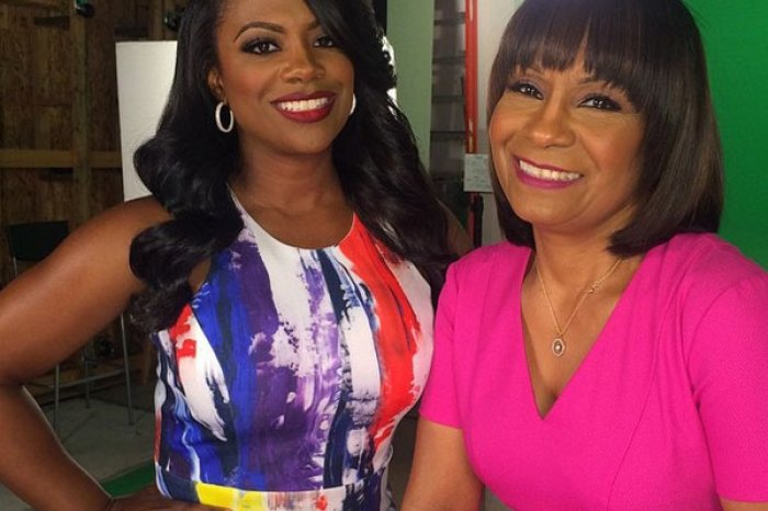 Kandi Burruss Is Twinning With Mama Joyce While Showing Off Their Ginger Short Hairdos In A Throwback Photo To When Riley Burruss Was About 11 Years Old