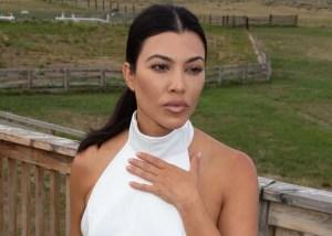 Kourtney Kardashian Looks Angelic In Little Sister Kim Kardashian's New Velour Skims — See The Look!