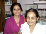 Beena & her mother-in-law Khrisna. Beena's husband Pravin works as a merchant marine. He is away on a ship.