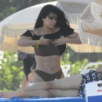 Emeraude Toubia in Bikini on the Beach in Miami