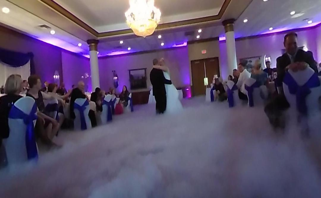 """Dancing on Clouds"" is one of the wedding reception entertainment ideas that CP incorporates"