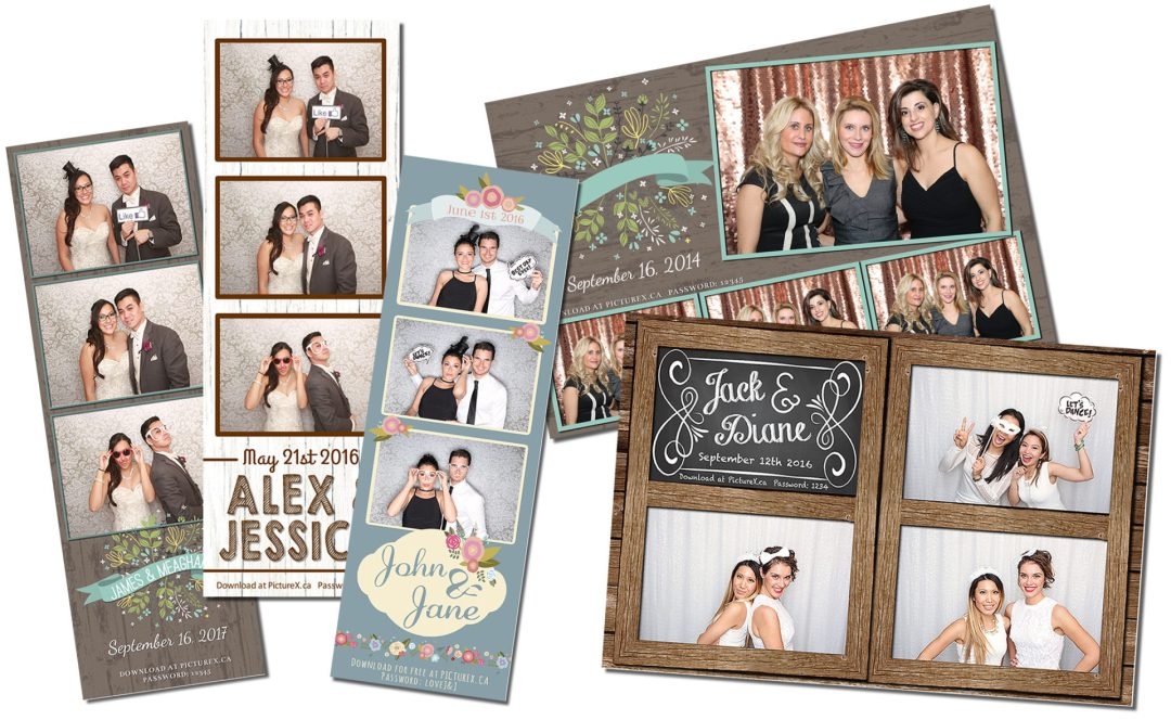 Various props for a mobile photo booth