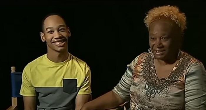 Chancellor with his grandmother, Saundra.