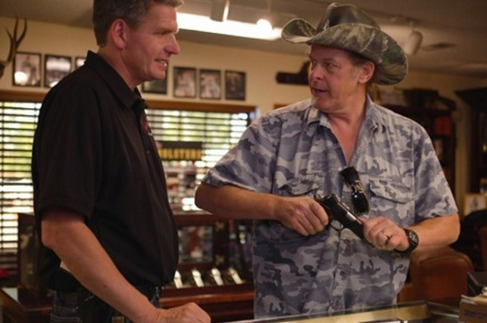 Rich Wyatt with rocker and gun advocate Ted Nugent as seen in an American Guns episode.