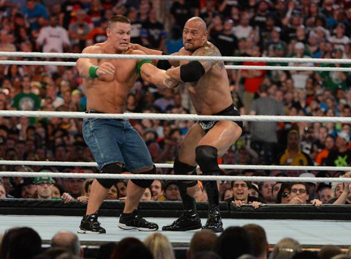 Pro Wrestling - The Rock & John Cena at WrestleMania 29