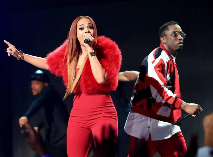 "Faith Evans, Sean ""Diddy"" Combs, 2015 BET Awards"
