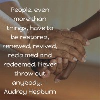 Audrey Hepburn: Never Throw Out Anybody