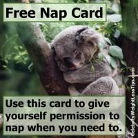 Free Nap Card: Koala