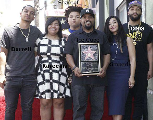 O'Shea Jackson Jr family: Father (Ice Cube), Mother(Kimberly), Sister(Kareema), Brothers- Darrell & Shareef