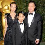 Brad pitt and his son Maddox Chivan Jolie-Pitt image.