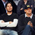 Leonade Dicaprio with his step brother Adam Farrar